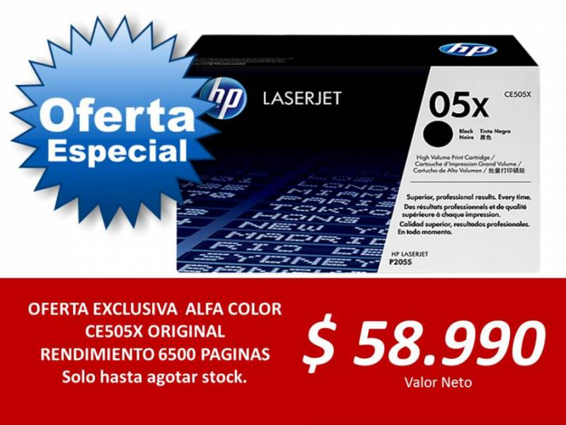TONER CE505X ORIGINAL OFERTA EXCLUSIVA
