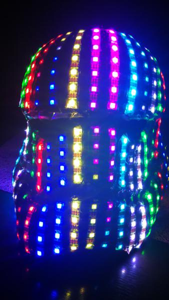dj led full luminoso. megapartyled