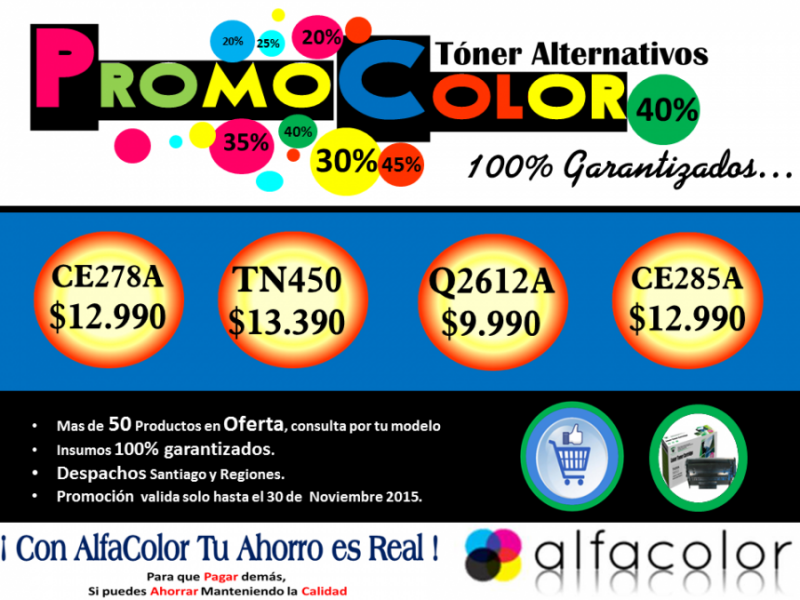 PROMO COLOR ( TONER ALTERNATIVOS)