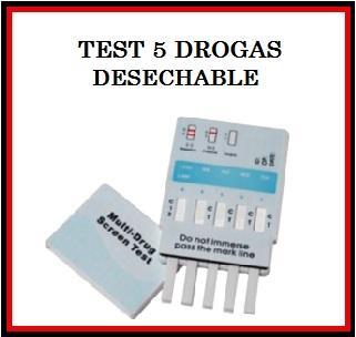 TEST DE DROGAS DESECHABLE